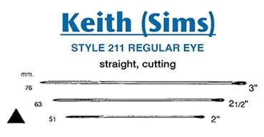 Picture for category Keith Needle (Sims) Straight Cutting - Style 211